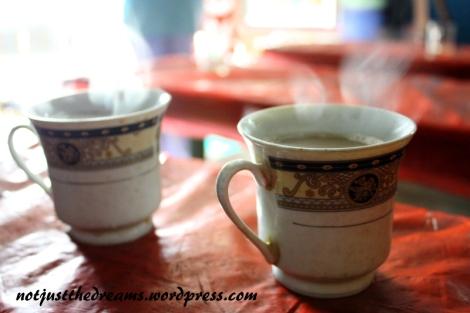 Z Jaffna wyjechałyśmy z planem zjedzenia śniadania na wyspie. Zamiast śniadania znalazłyśmy herbatę podaną w bardzo ładnych filiżankach. Znowu poczułyśmy, że na północy rzadko spotykanych obcokrajowców traktuje się inaczej, lokalsi herbatę pili w szklankach.