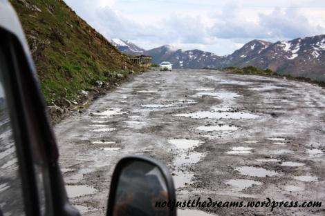 Tak właśnie droga na końcowych kilkudziesięciu kilometrach wygląda.
